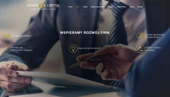 Strona WWW Leonidas Kapital