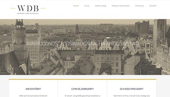 Strona internetowa WDB