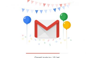 Darmowa poczta Gmail ma już 15 lat!