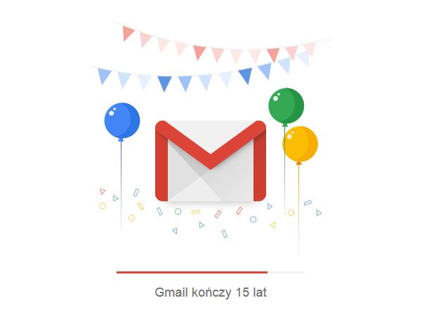 gmail 15 urodziny