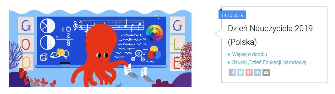 Doodle z okazji Dnia Nauczyciela