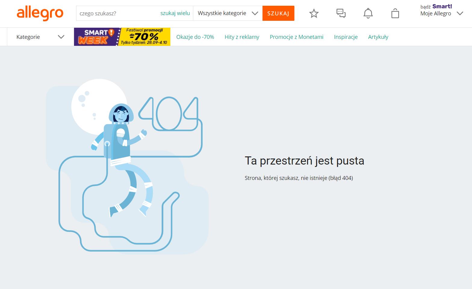 Błąd 404 - Allegro.pl
