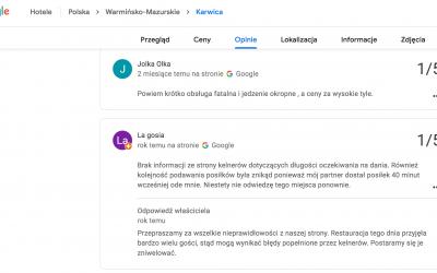 Jak odpowiadać na negatywne opinie w Google Maps?