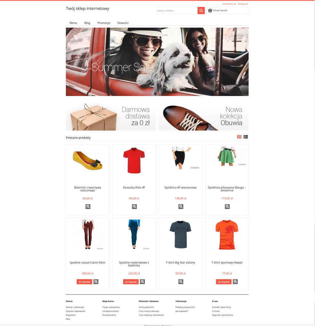 Sklep internetowy Shoper - wersja demo
